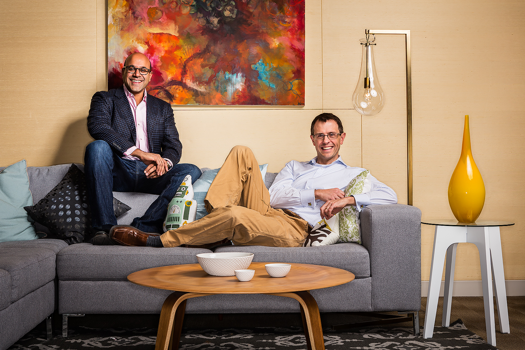 WAYFAIR FOUNDERS NIRAJ SHAH & STEVE CONINE • FORBES MAGAZINE • JASON GROW PHOTOGRAPHY
