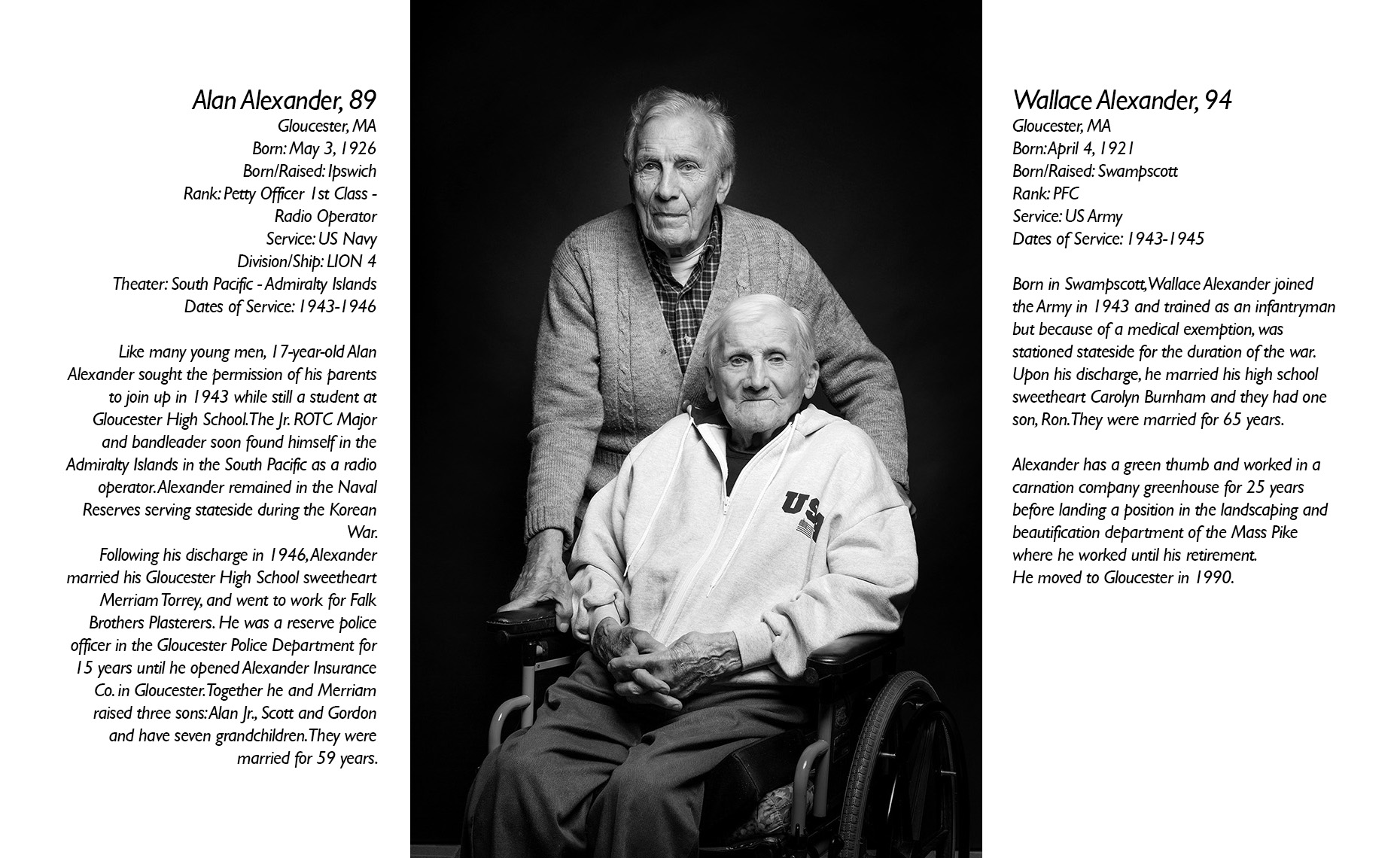 Alan & Walter Alexander  WWII Veteran  • Jason Grow Photography