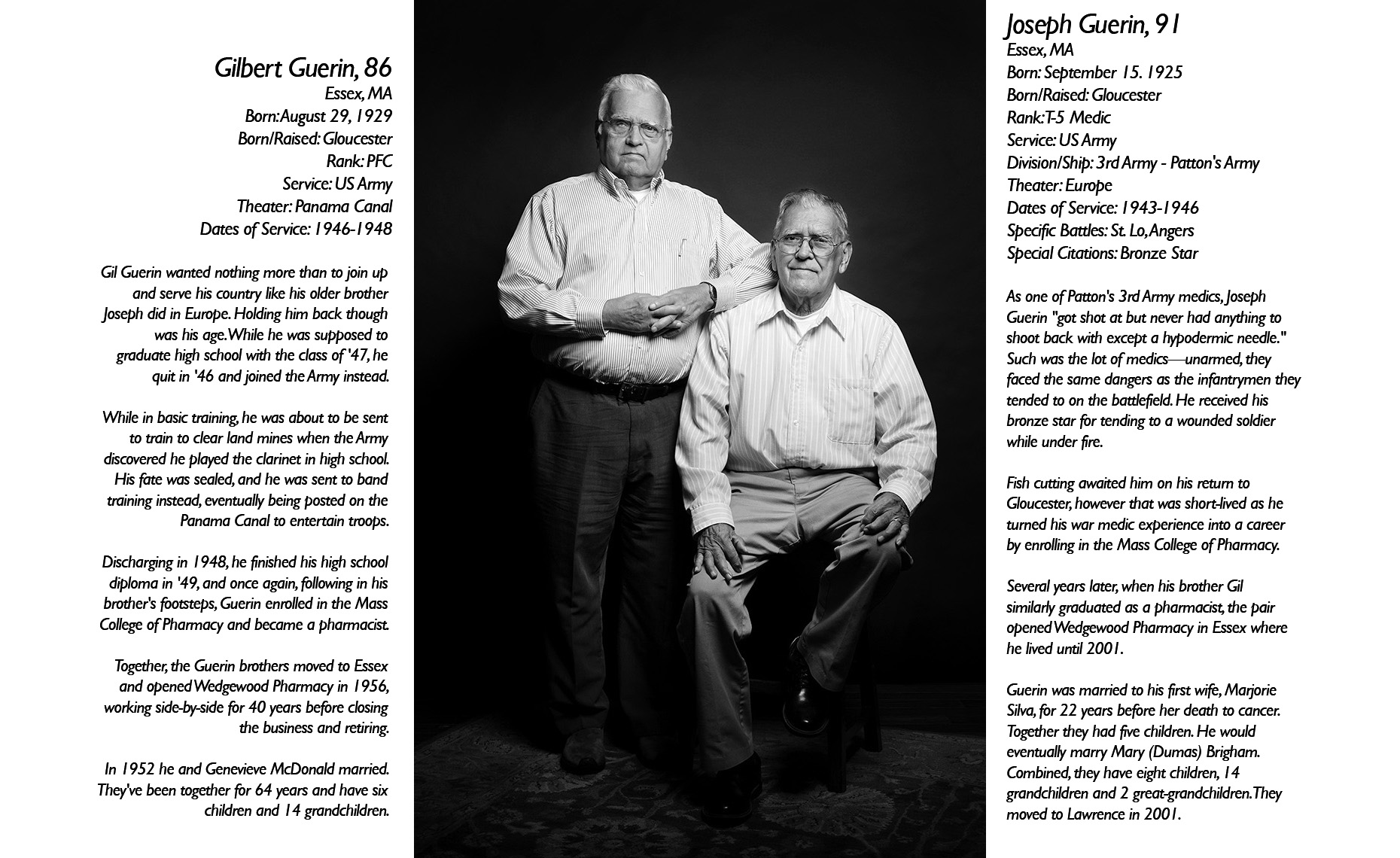 Gilbert & Joseph Guerin  WWII Veteran  • Jason Grow Photography