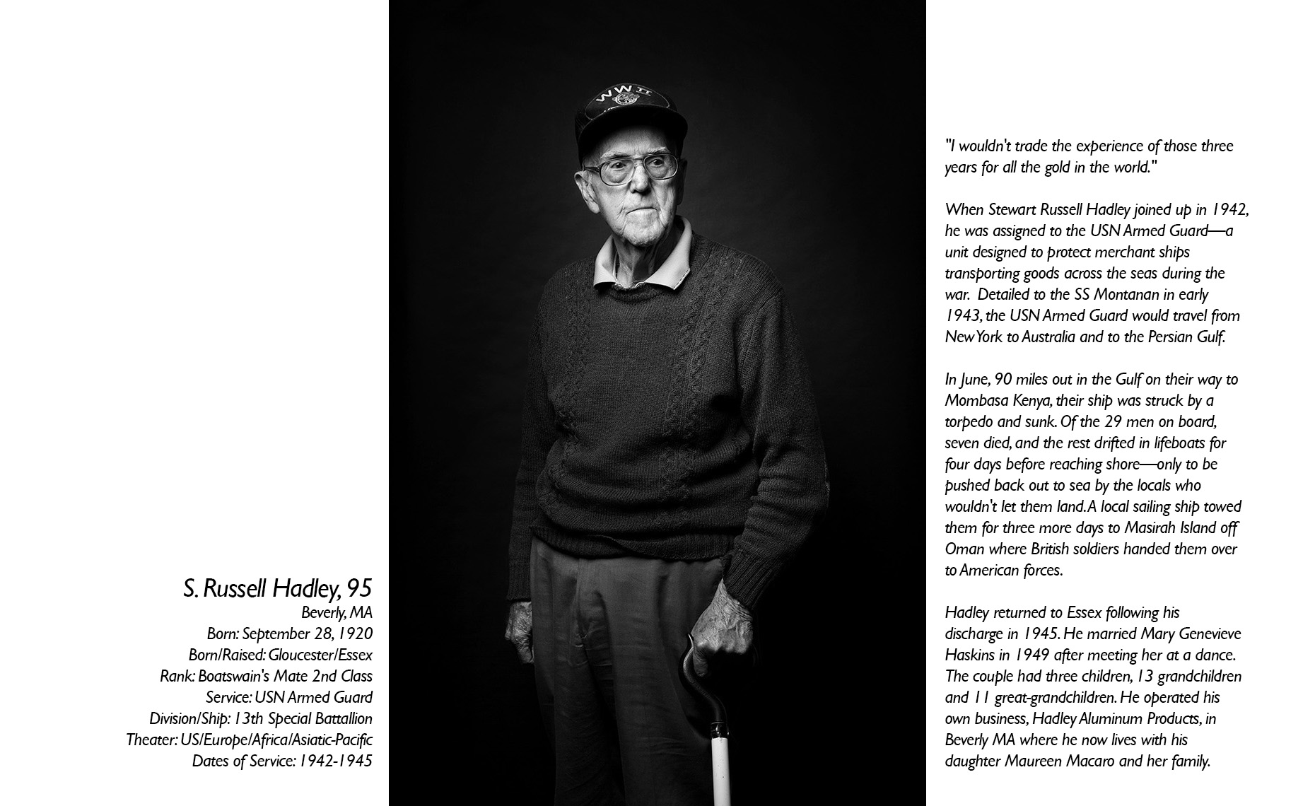 Russell Hadley  WWII Veteran  • Jason Grow Photography