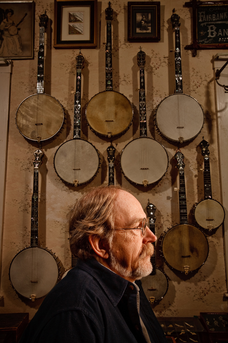 Jim Bollman, banjo collector • Jason Grow Photography
