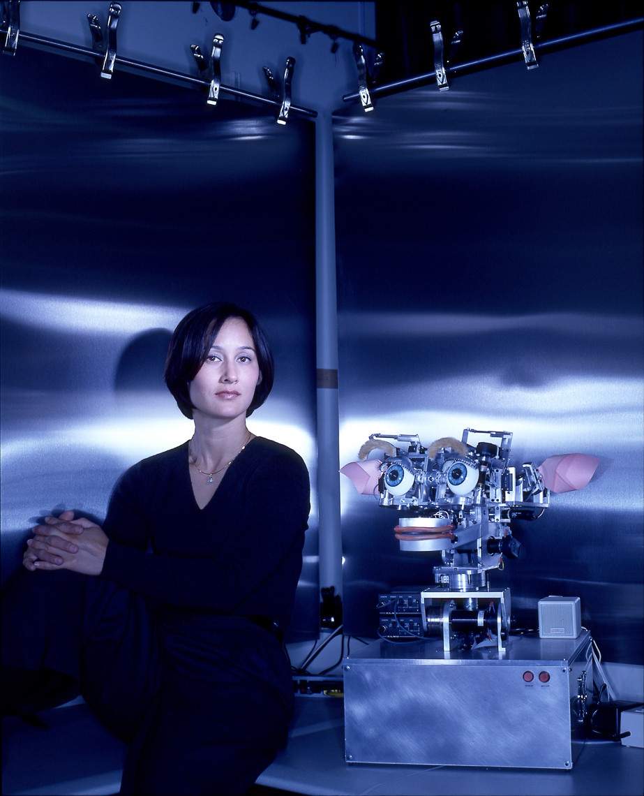 Cynthia Breazeal, Robotics pioneer, MIT, with Kismet • Jason Grow Photography