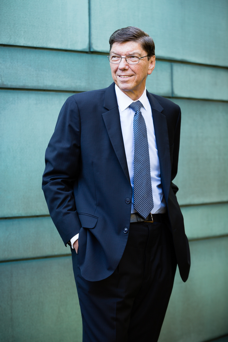 Clayton Christensen, Harvard Business School • Jason Grow Photography