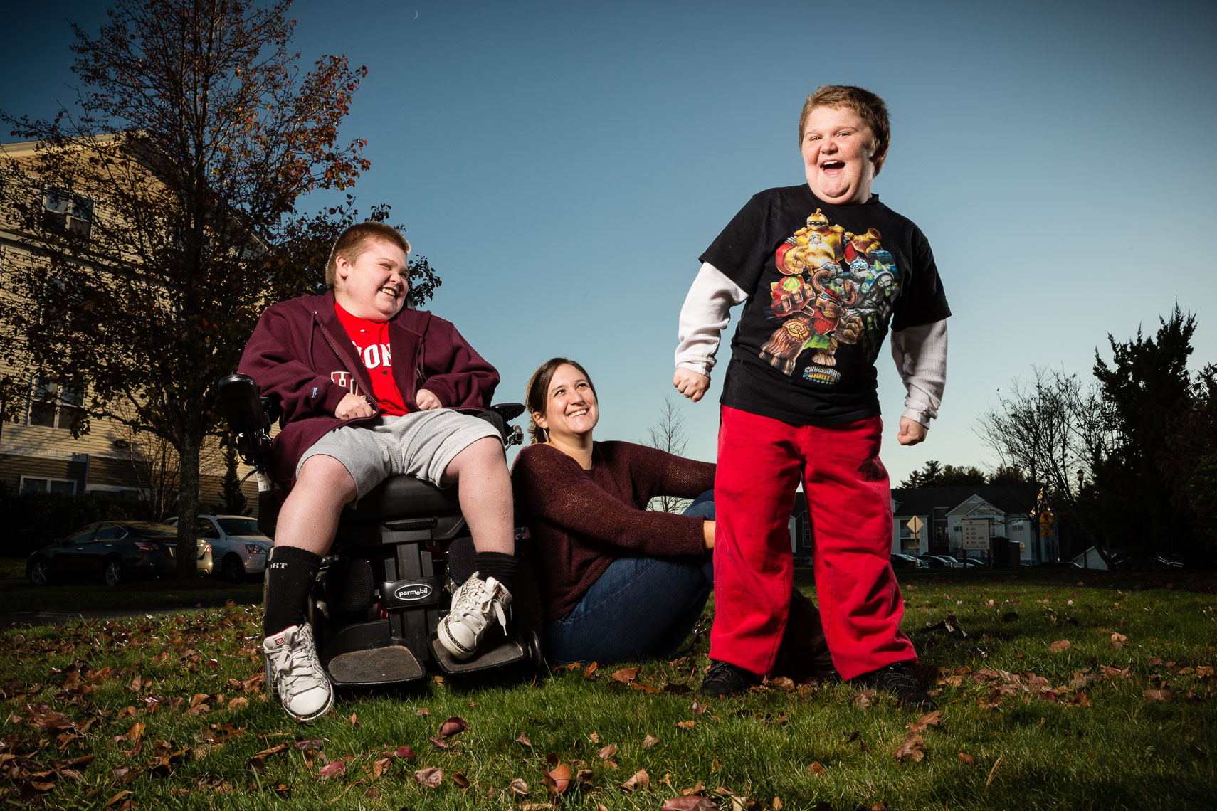 Jenn McNary with sons Austin and Max Leclaire, both with Duchenne Muscular Dystrophy, for Barron