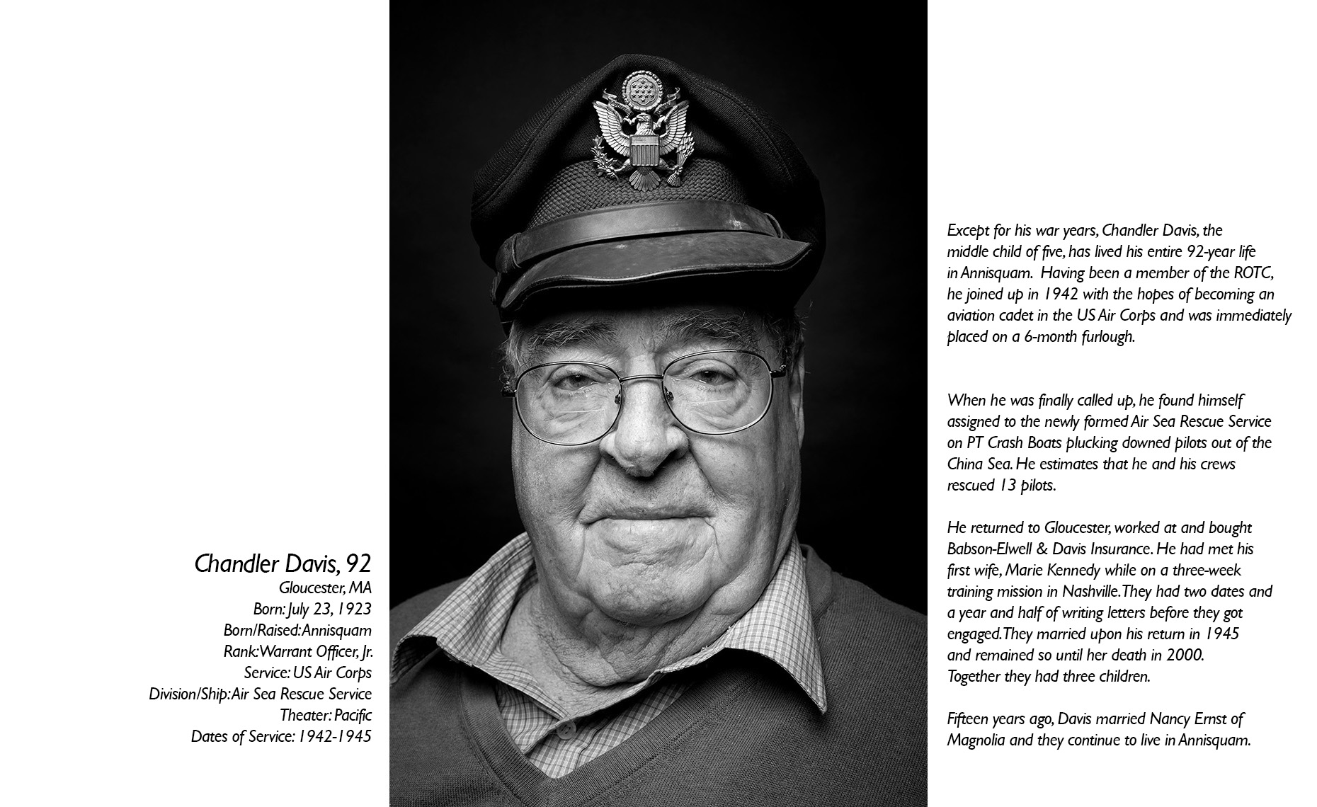Chandler Davis  WWII Veteran  • Jason Grow Photography