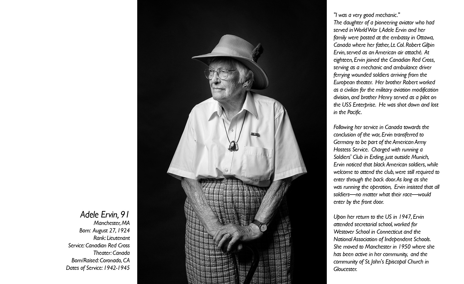 Adele Ervin  WWII Veteran  • Jason Grow Photography