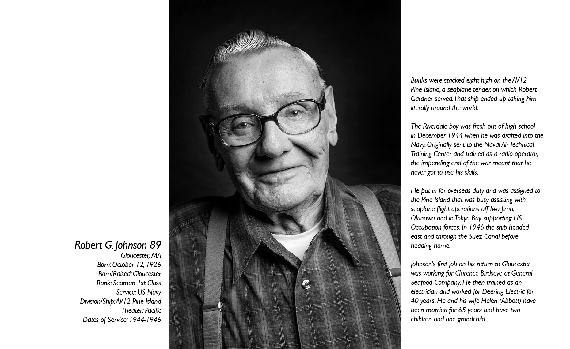 Robert Johnson  WWII Veteran  • Jason Grow Photography