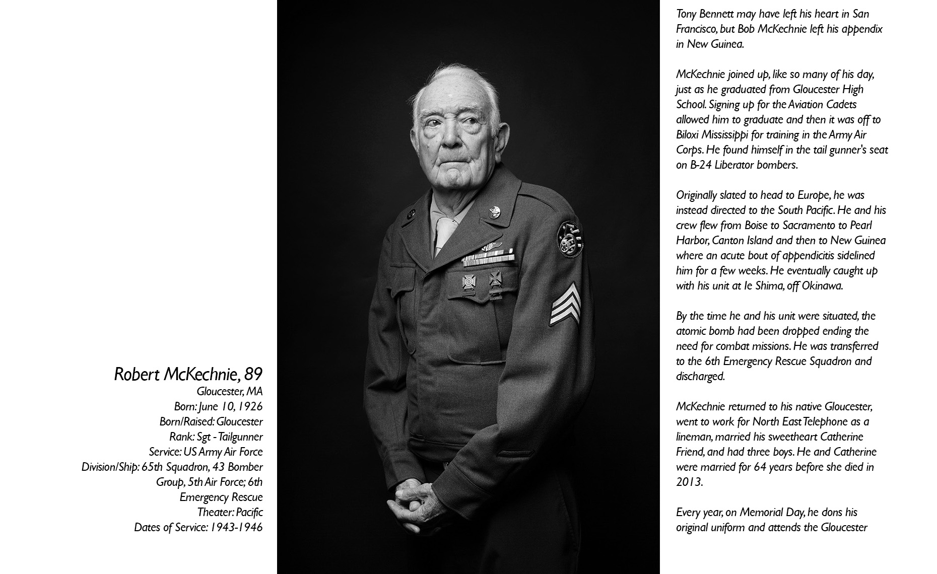 Robert McKechnie  WWII Veteran  • Jason Grow Photography