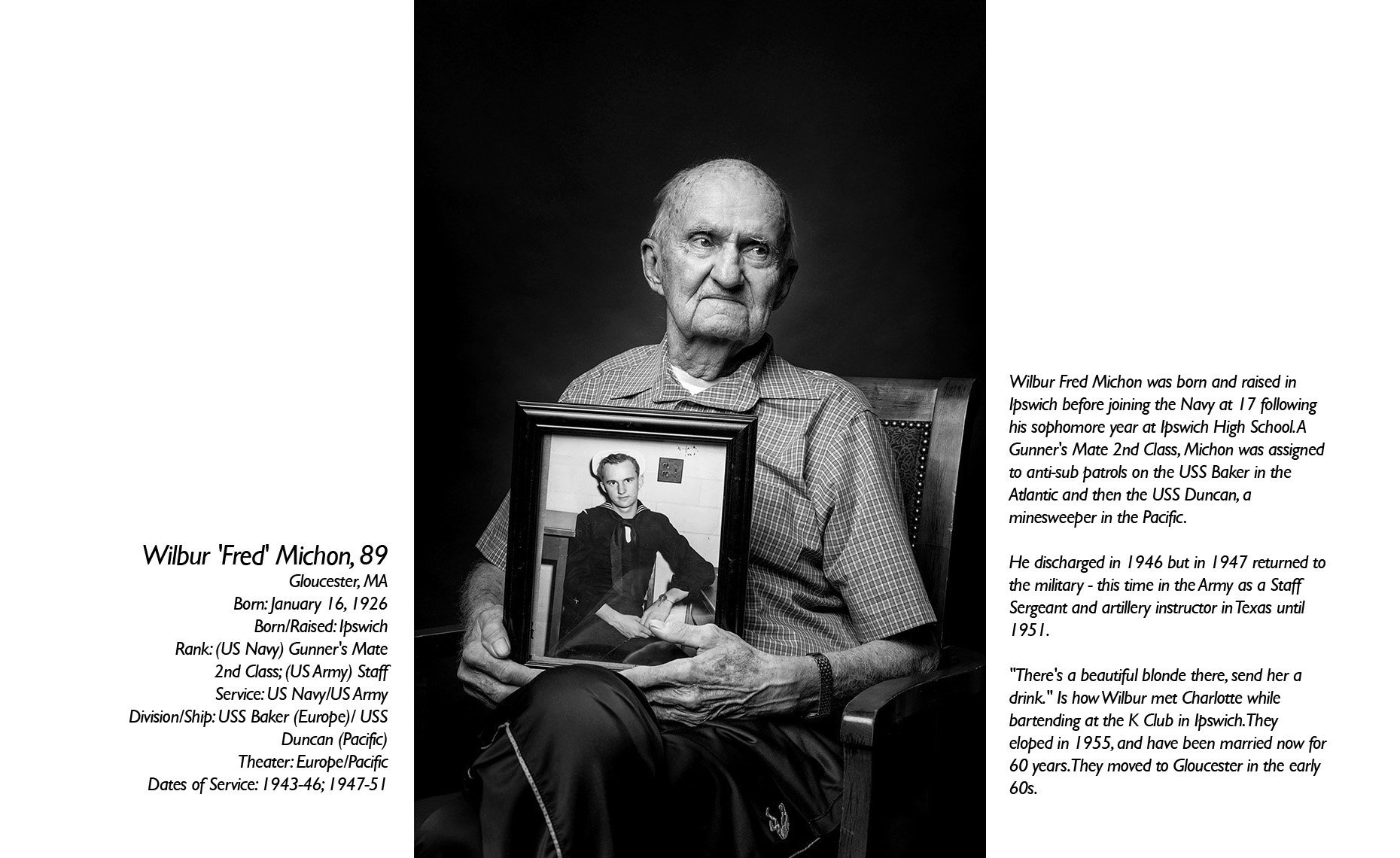 Wilbur  Michon  WWII Veteran  • Jason Grow Photography
