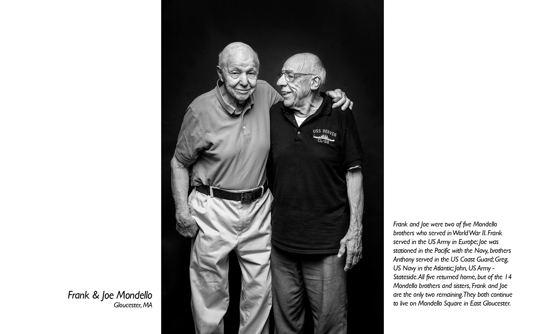 Frank & Joe Mondello  WWII Veteran  • Jason Grow Photography
