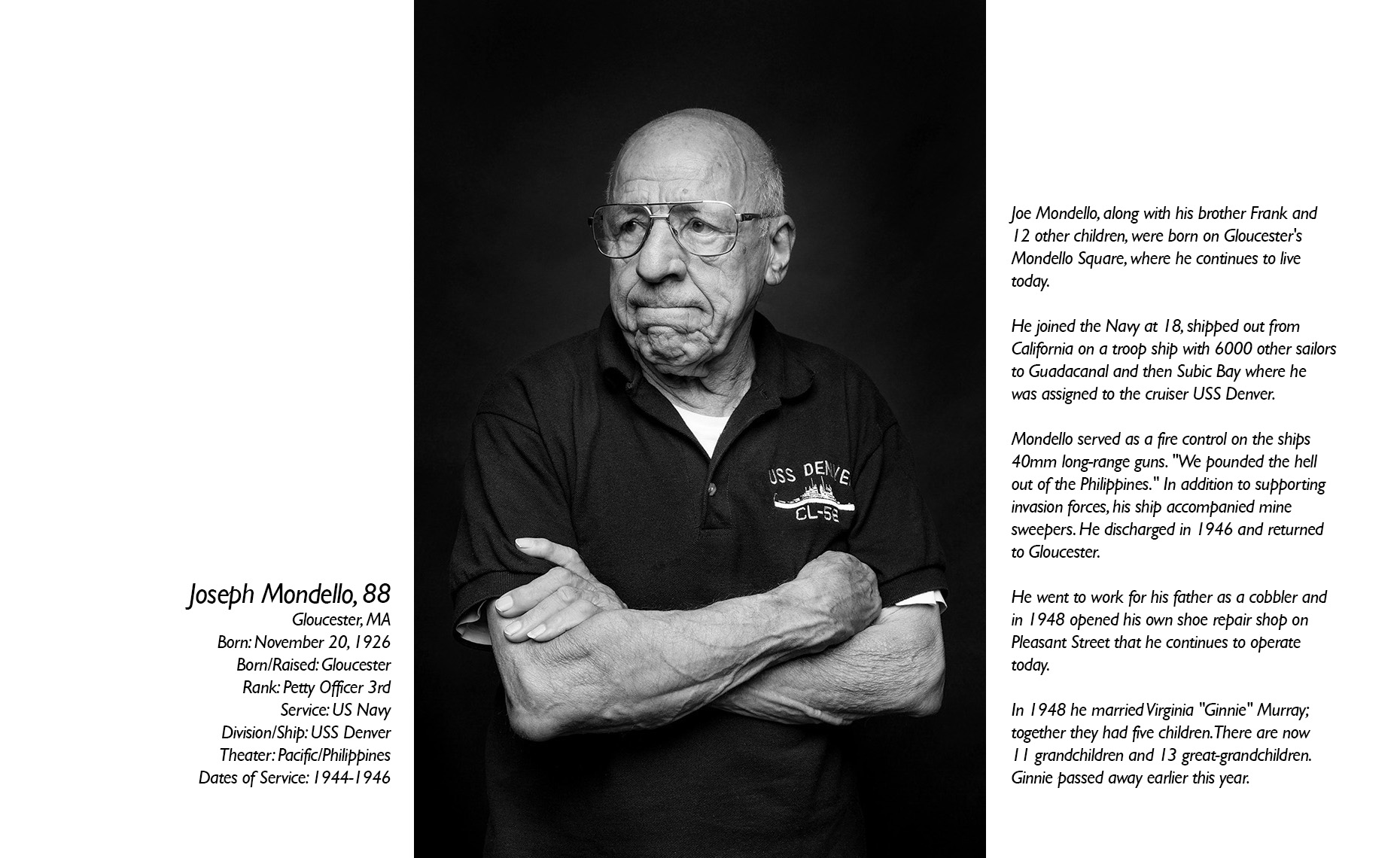 Joe Mondello  WWII Veteran  • Jason Grow Photography