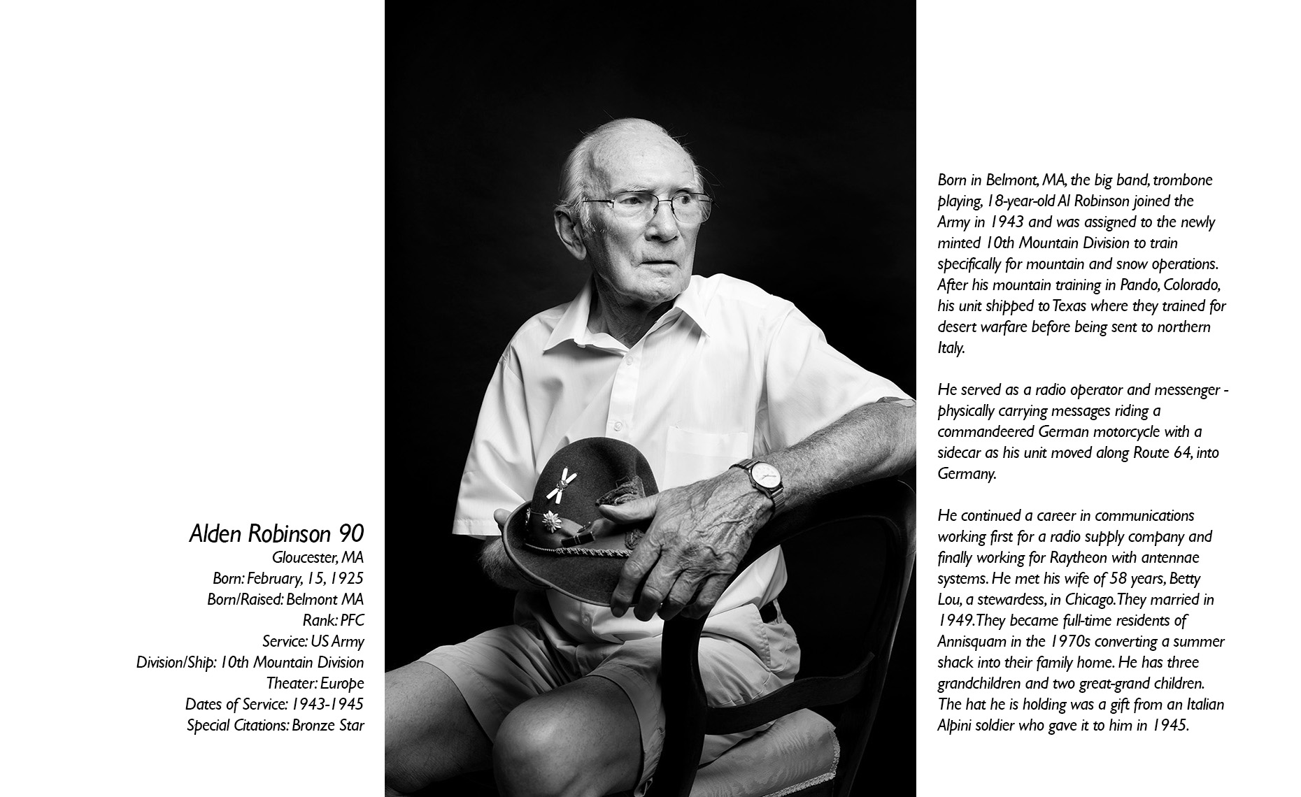 Alden Robinson  WWII Veteran  • Jason Grow Photography