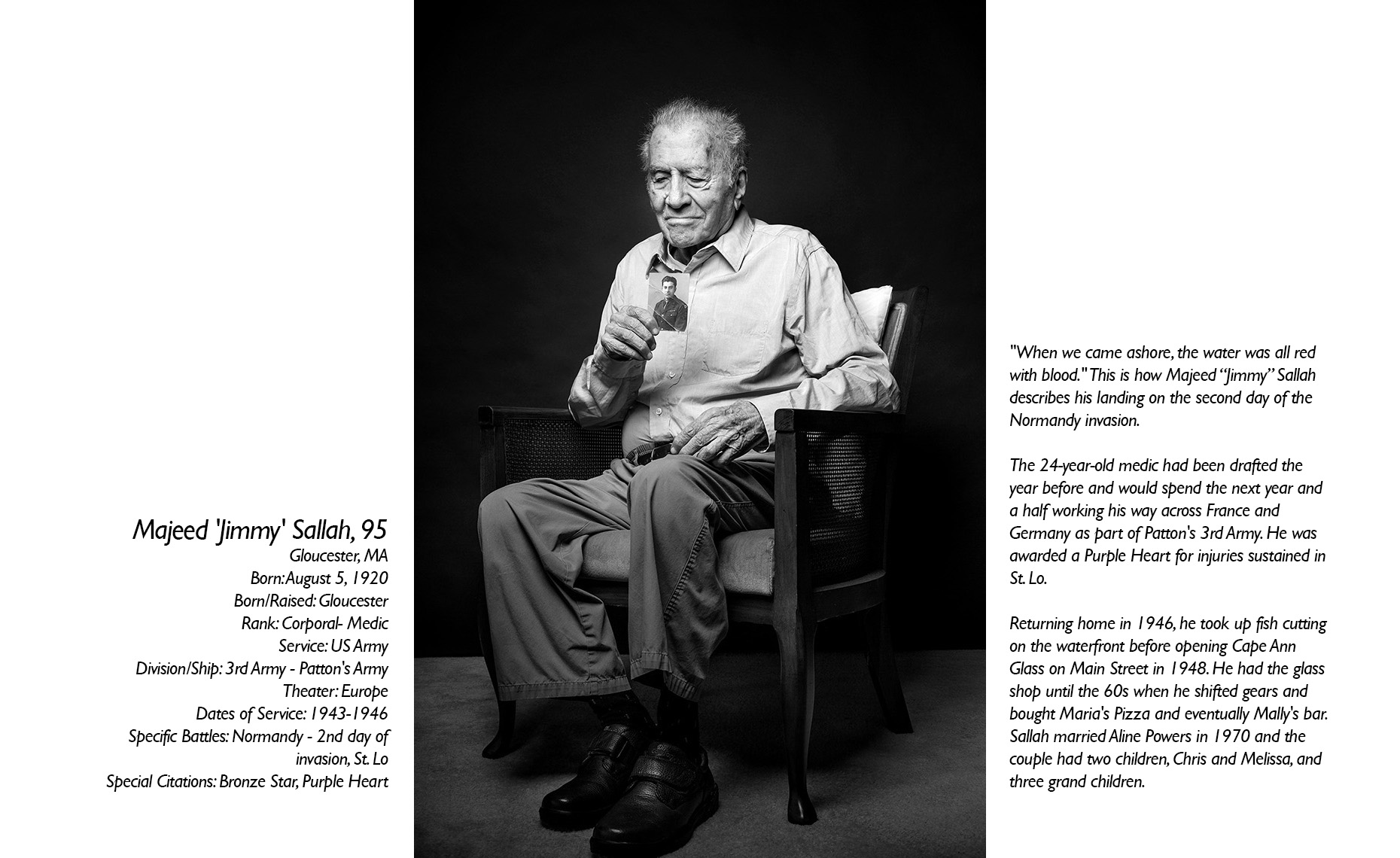 Majeed Sallah  WWII Veteran  • Jason Grow Photography