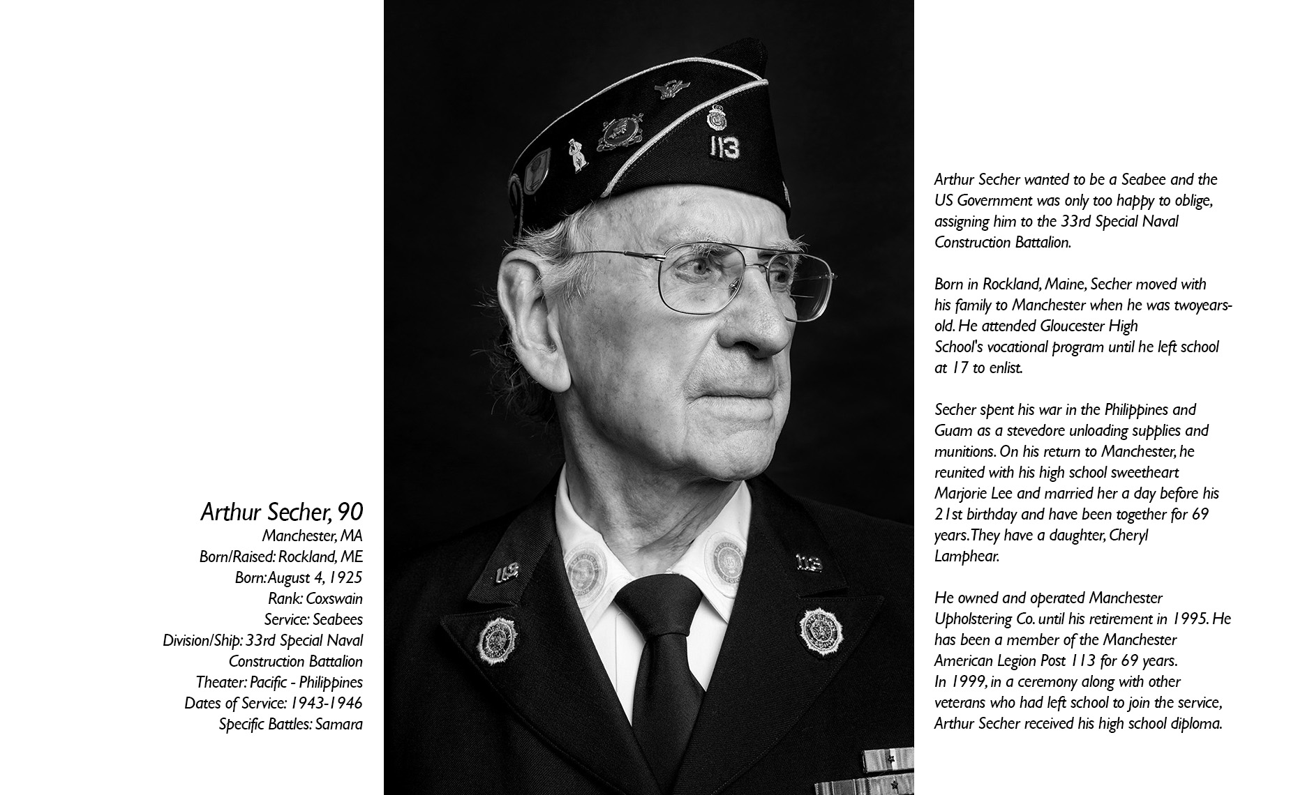 Arthur Secher  WWII Veteran  • Jason Grow Photography