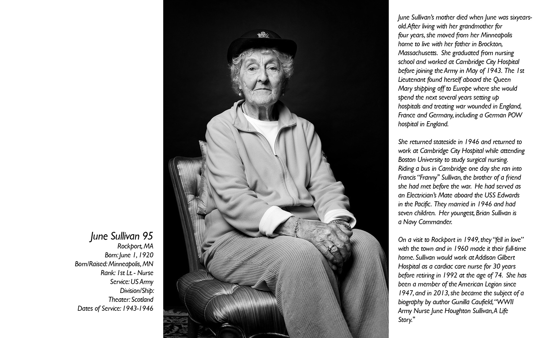 June Sullivan  WWII Veteran  • Jason Grow Photography