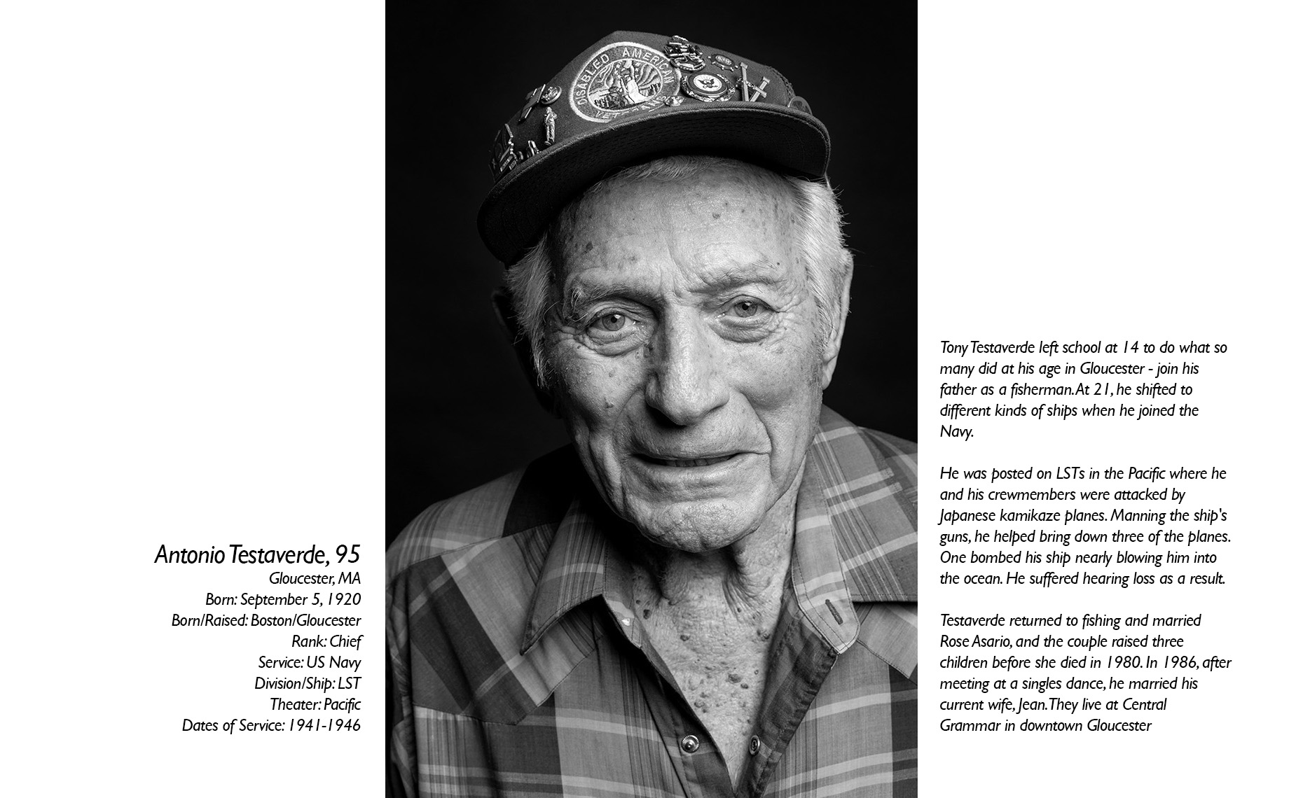 Antonio Testaverde  WWII Veteran  • Jason Grow Photography
