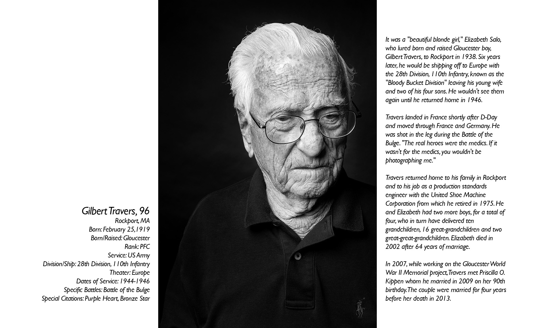 Gil Travers  WWII Veteran  • Jason Grow Photography