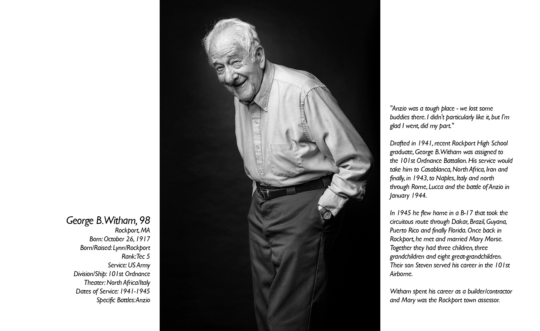 George Witham  WWII Veteran  • Jason Grow Photography
