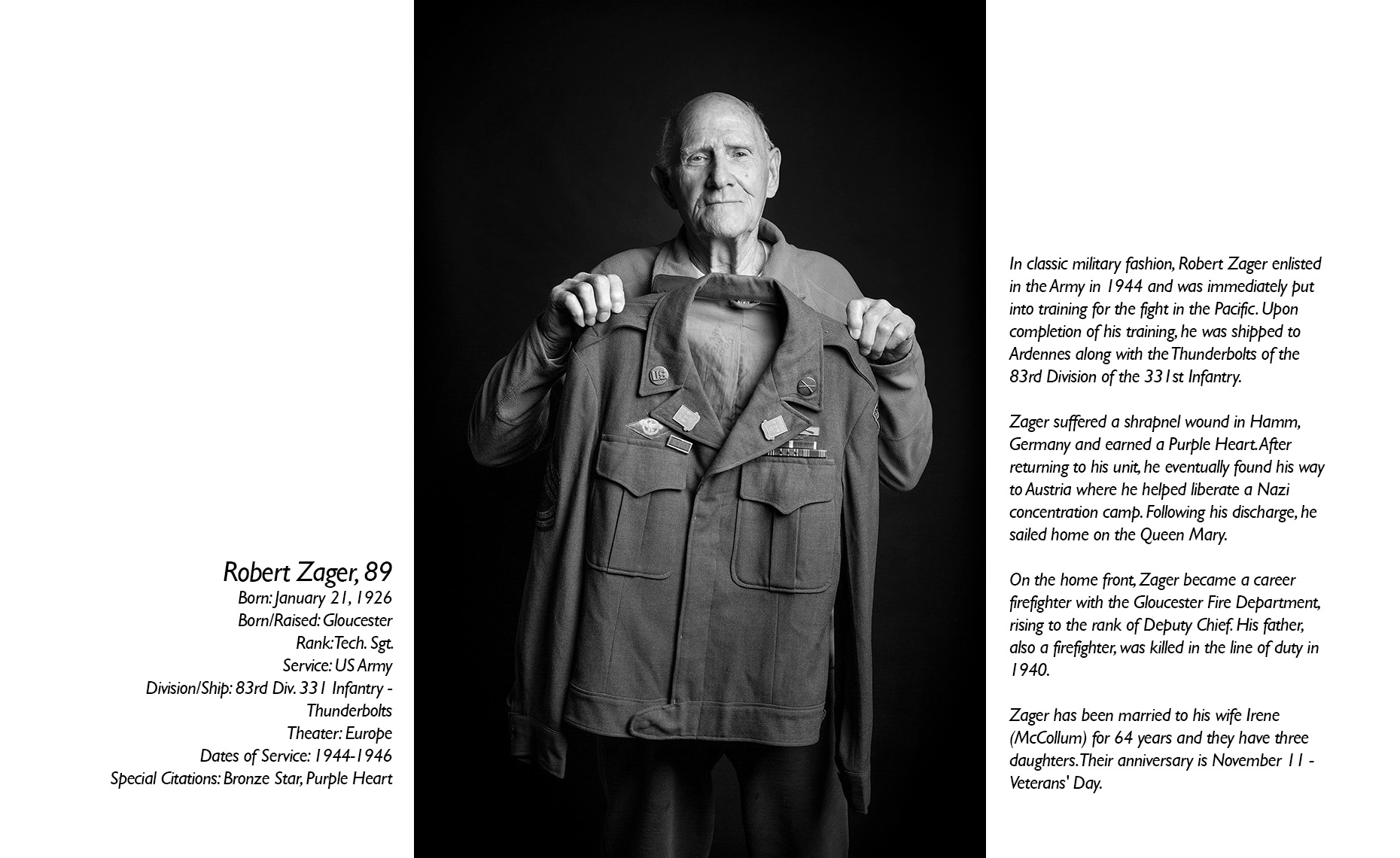 Robert Zager  WWII Veteran  • Jason Grow Photography