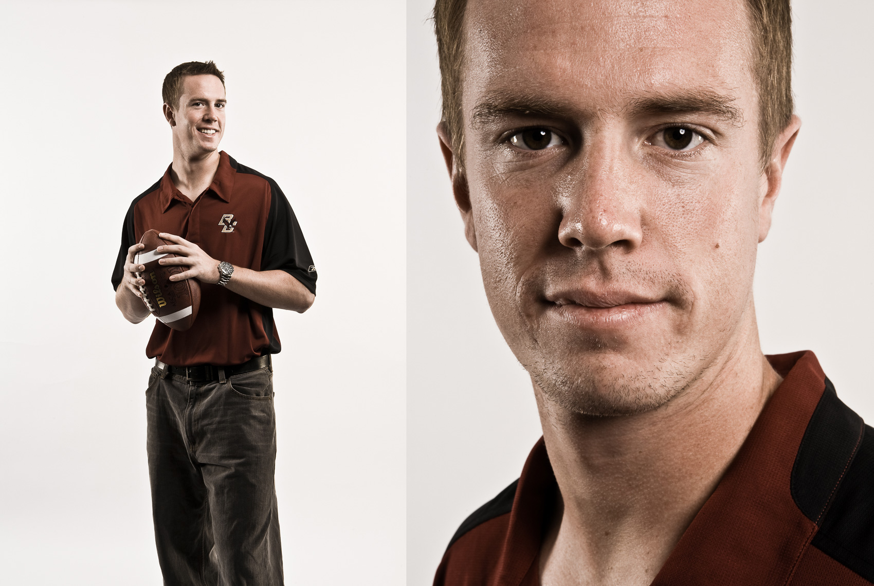 MATT RYAN,  Boston College QB for ESPN Magazine • Jason Grow Photography