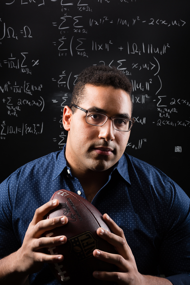 John Urschel, Baltimore Ravens and MIT Doctoral candidate in Mathematics • The Wall Street Journal • Jason Grow Photography