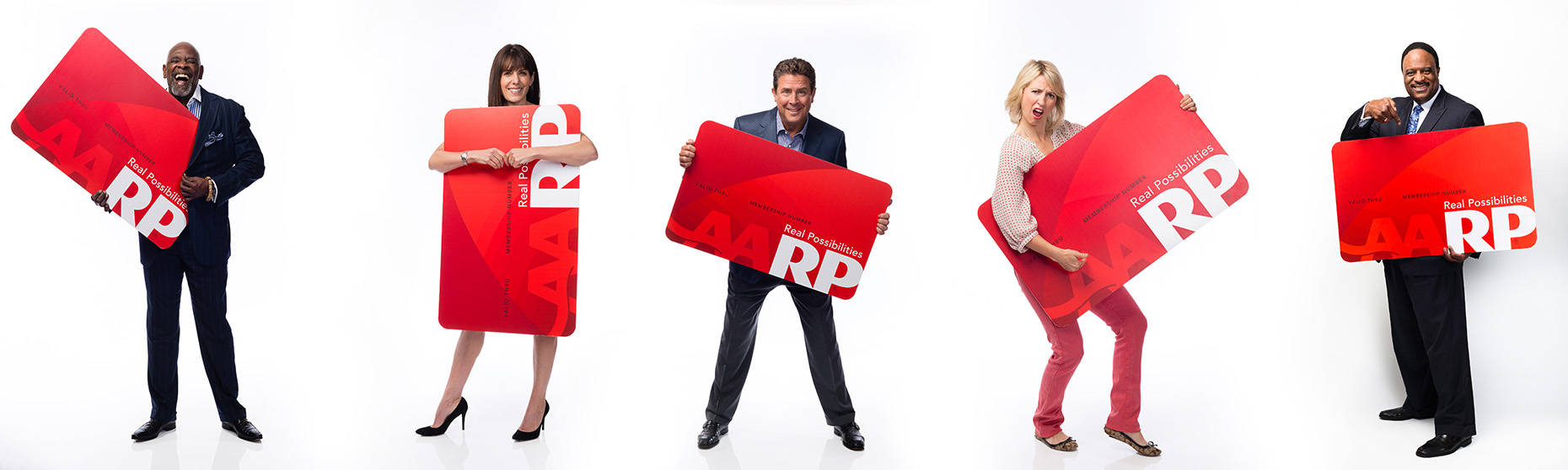 AARP  Chris Gardner  , Jean Chatzky, Dan Marino, Samantha Brown, James JB Brown for AARP   • Jason Grow Photography