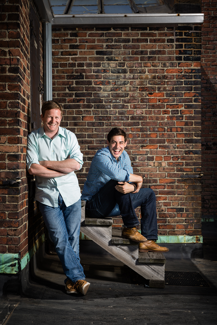 HourlyNerd founders and co-CEOs Patrick Petitti and Rob Biederman, Boston MA. For Entrepreneur Magazine • Jason Grow Photography